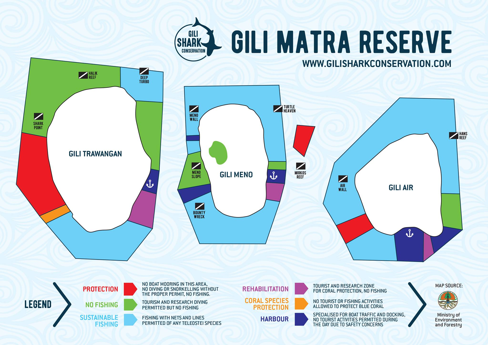 map of gili islands
